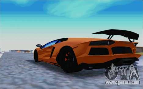 Lamborghini Aventador MV.1 [IVF] for GTA San Andreas back left view