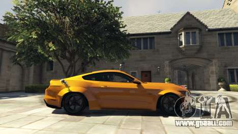 GTA 5 Ford Mustang GT RocketB & Wide Body left side view