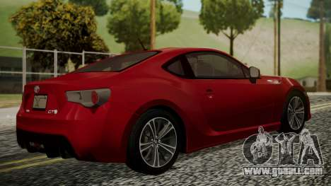 Toyota GT86 2012 LQ for GTA San Andreas left view