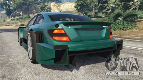 GTA 5 Mercedes-Benz C204 AMG DTM 2013 v1.0 rear left side view