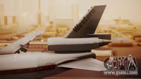DC-10-10 Western Airlines for GTA San Andreas back left view