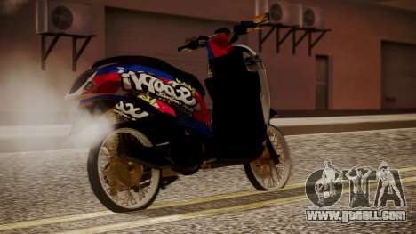 Honda Scoopy New Red and Blue for GTA San Andreas left view