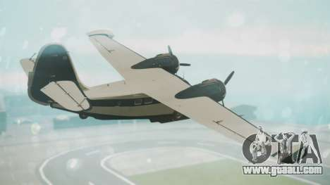Grumman G-21 Goose Black and White for GTA San Andreas left view