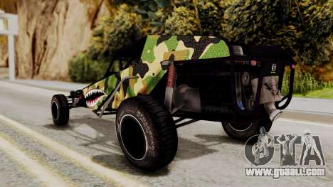 Buggy Camo Shark Mouth for GTA San Andreas back left view