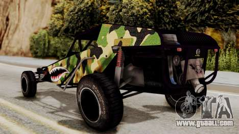Buggy Camo Shark Mouth for GTA San Andreas left view