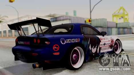Mazda RX-7 Black Rock Shooter Itasha for GTA San Andreas left view