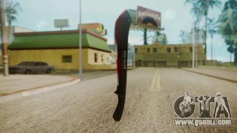 GTA 5 Machete (From Lowider DLC) Bloody for GTA San Andreas third screenshot