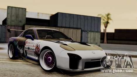 Mazda RX-7 Black Rock Shooter Itasha for GTA San Andreas inner view