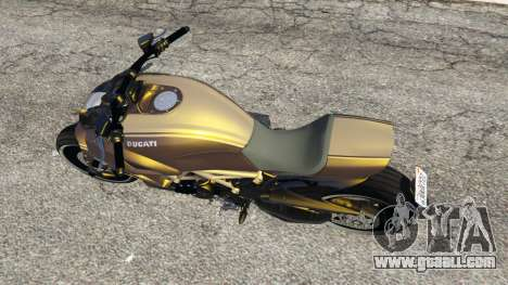 GTA 5 Ducati Diavel Carbon 11 v1.1 back view
