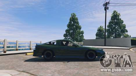 GTA 5 Nissan 240sx v1.0 left side view