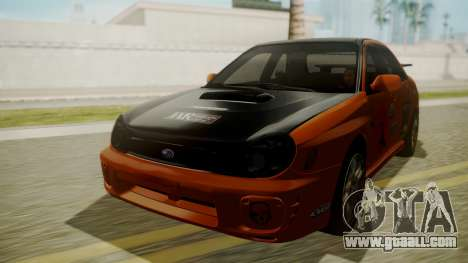 Subaru Impreza WRX GDA for GTA San Andreas side view