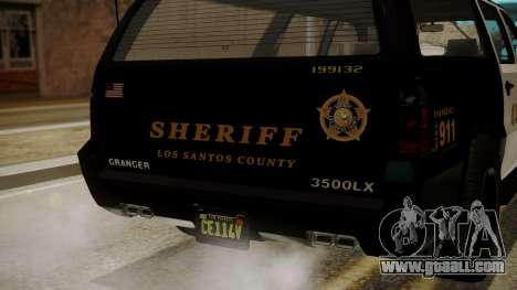 GTA 5 Declasse Granger Sheriff SUV IVF for GTA San Andreas inner view