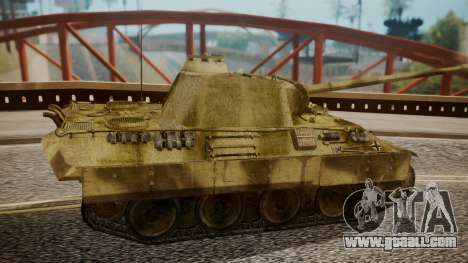 Panzerkampfwagen V Ausf. A Panther for GTA San Andreas back left view