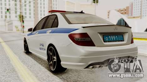 Mercedes-Benz C63 AMG STSI the Ministry of inter for GTA San Andreas left view