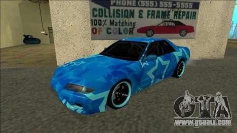 Nissan Skyline R32 Drift Blue Star for GTA San Andreas