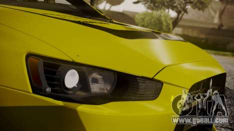 Mitsubishi Lancer Evolution X 2015 Final Edition for GTA San Andreas interior