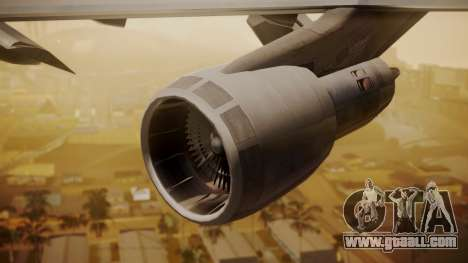 Boeing 747-200 Fly US for GTA San Andreas right view