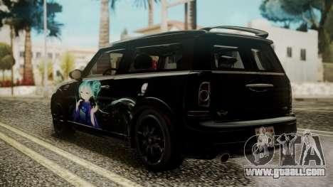 Mini Cooper Clubman 2011 Hatsune Miku Itasha for GTA San Andreas left view