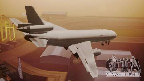 DC-10-30 All-White Livery (Paintkit) for GTA San Andreas left view