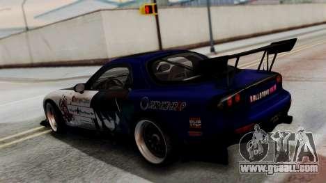 Mazda RX-7 Black Rock Shooter Itasha for GTA San Andreas back view