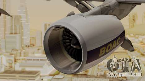 Airbus A380-800 British Overseas Airways Corp. for GTA San Andreas right view