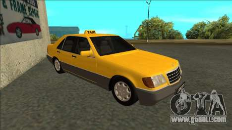 Mercedes-Benz W140 500SE Taxi 1992 for GTA San Andreas left view