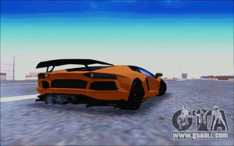 Lamborghini Aventador MV.1 [IVF] for GTA San Andreas back view