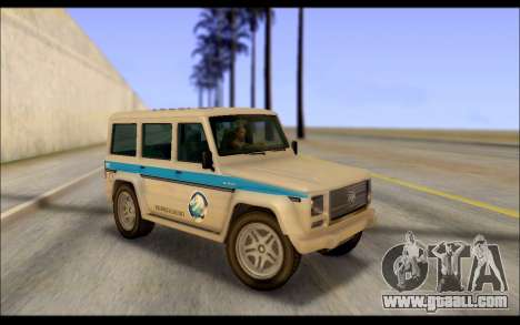 Benefactor Dubsta Jurassic World Paintjob for GTA San Andreas