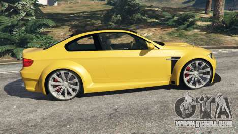 GTA 5 BMW M3 (E92) WideBody v1.1 left side view