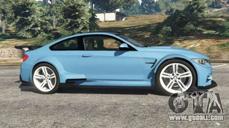 GTA 5 BMW M4 (F82) WideBody left side view