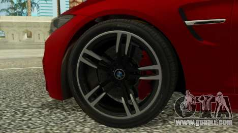 BMW M4 Coupe 2015 for GTA San Andreas back left view