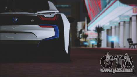 BMW i8 Coupe 2015 for GTA San Andreas engine