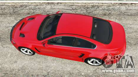GTA 5 BMW M6 (E63) WideBody v0.1 [red] back view