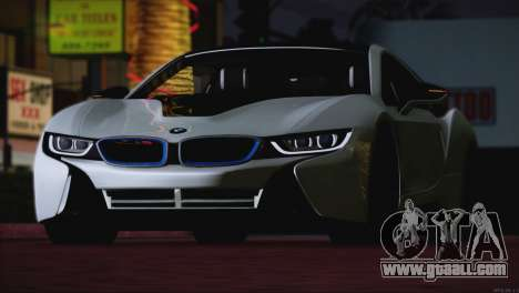 BMW i8 Coupe 2015 for GTA San Andreas side view
