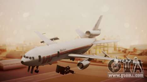 DC-10-10 Western Airlines for GTA San Andreas