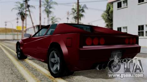 Cheetah from Vice City Stories for GTA San Andreas left view