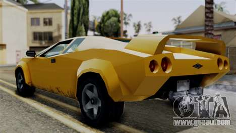 Infernus from Vice City Stories for GTA San Andreas left view