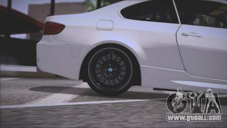 BMW M3 E92 2008 for GTA San Andreas wheels