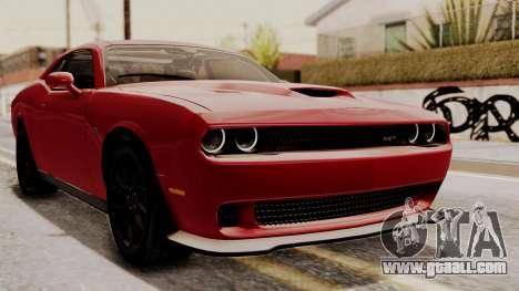 Dodge Challenger SRT Hellcat 2015 HQLM for GTA San Andreas