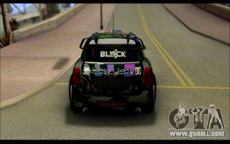 Mini Cooper Gymkhana 6 with Drift Handling for GTA San Andreas back view