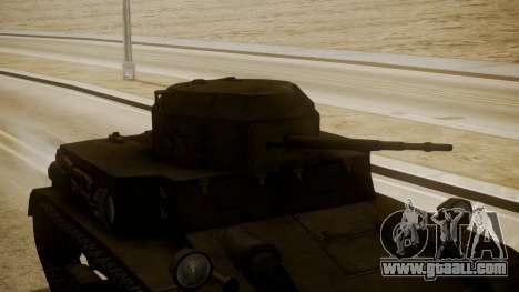 T2 Light Tank for GTA San Andreas right view