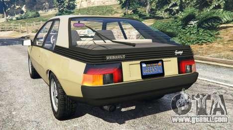 GTA 5 Renault Fuego 1980 rear left side view