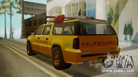 GTA 5 Declasse Granger Lifeguard IVF for GTA San Andreas left view