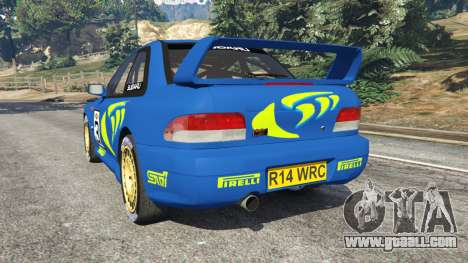 GTA 5 Subaru Impreza WRC 1998 rear left side view