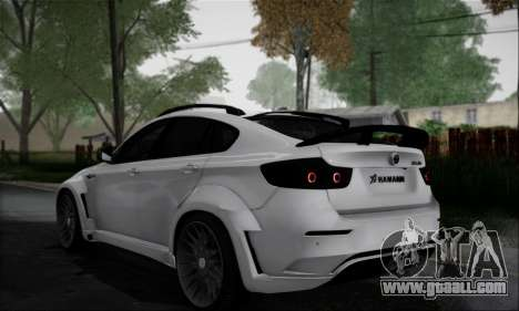 BMW X6M HAMANN Final for GTA San Andreas back view