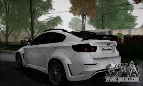 BMW X6M HAMANN Final for GTA San Andreas back view