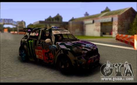 Mini Cooper Gymkhana 6 with Drift Handling for GTA San Andreas left view