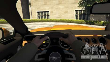 GTA 5 Ford Mustang GT RocketB & Wide Body back view