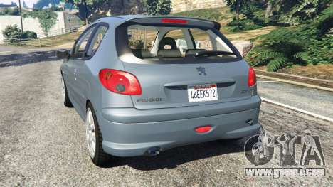 GTA 5 Peugeot 206 GTI rear left side view