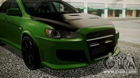 Mitsubishi Lancer Evolution X WBK for GTA San Andreas back view